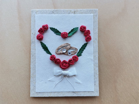 Mini Card: Rings within Heart Wreath (919)
