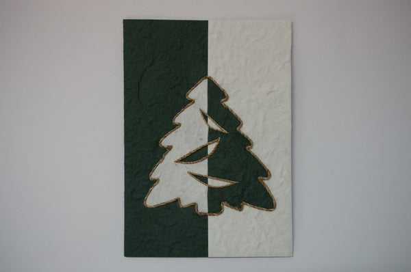 Christmas Tree Green and White Standard