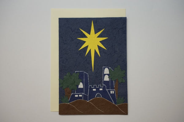 Star Blue and Yellow Envelope