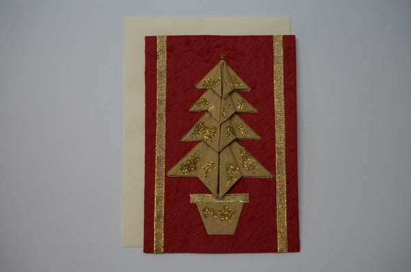 Tree Gold Envelope