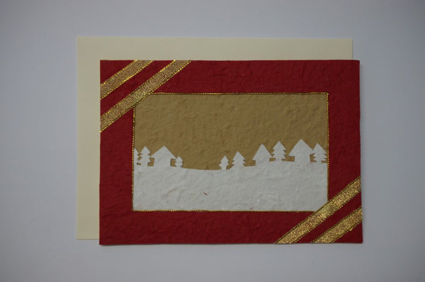 Landscape and Trees Red  Envelope