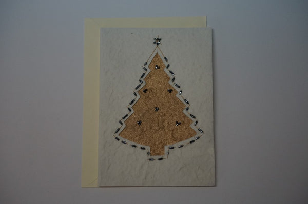 Golden Tree with Black Beads Envelope