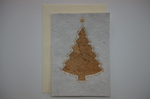 Golden Tree with Beads Envelope
