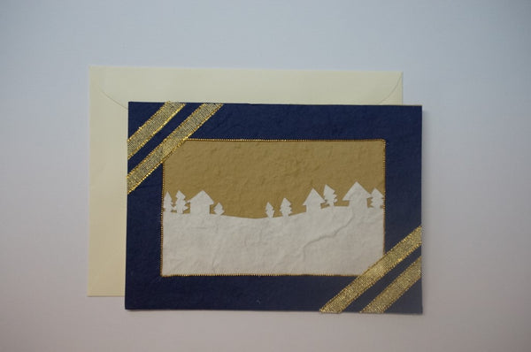 Landscape and Trees Blue Envelope