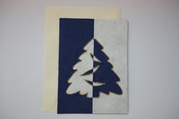 Tree Blue and White Envelope