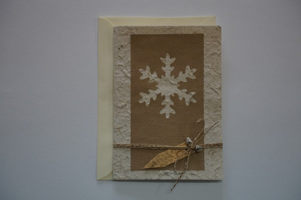 Snowflake and Bells Brown Envelope