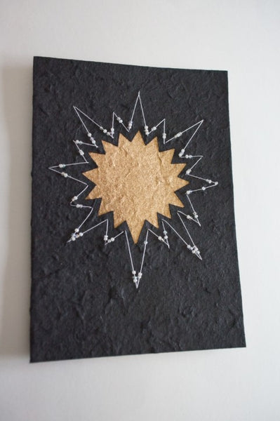 Star on Black with White Border (263)