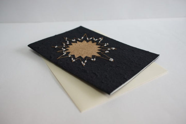 Star on black with Gold Border (264)