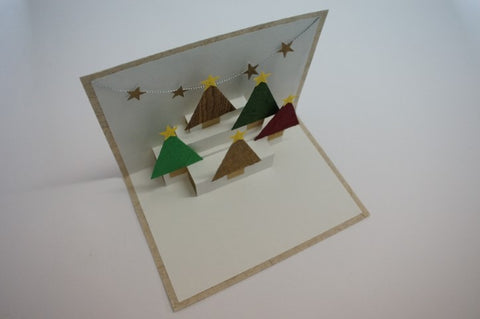 Pop-up Card 'Christmas Trees' (273)