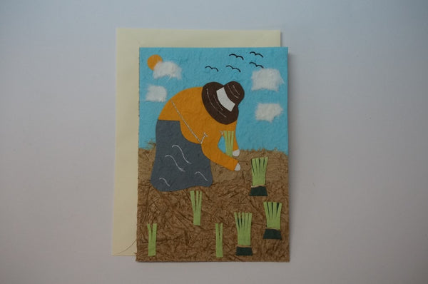 Worker in Rice Field Envelope