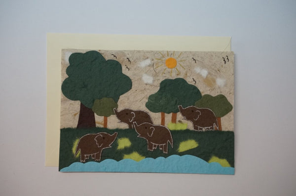 Four Elephants Envelope