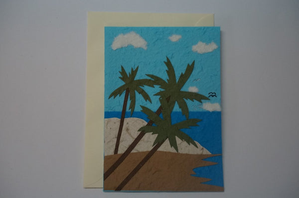 Water, Goose and Palm Trees Envelope