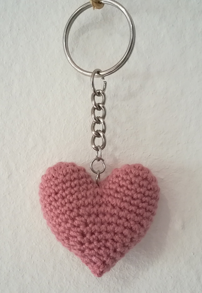 Crochet Heart Keyring without Tamar Heart (Various colours available)