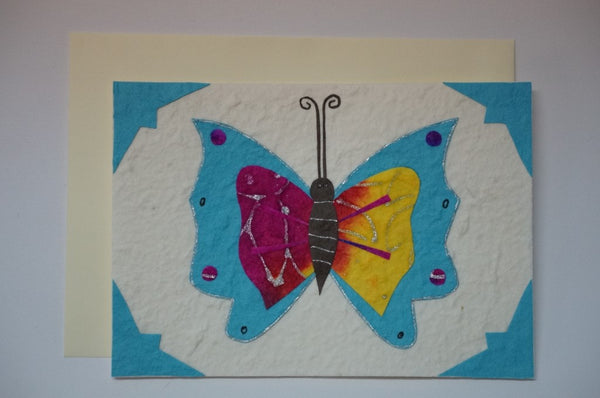 Butterfly Colored Envelope