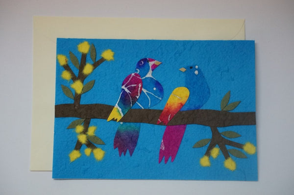 Two Colorful Birds Envelope