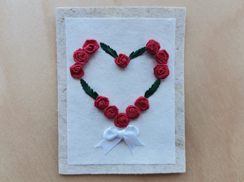 Mini Card: Heart Wreath with Greenery (901)