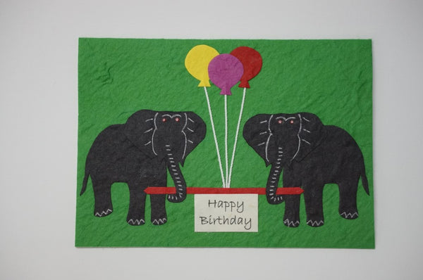 Elephants With Colored Balloons Standard