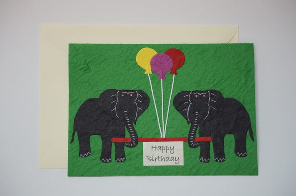 Elephants With Colored Balloons Envelope