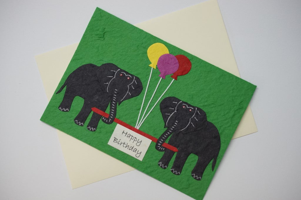 Elephants With Colored Balloons Fancy