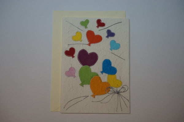 Various Colored Balloons Envelope