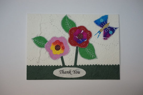 Thank You Flowers With Butterfly Standard