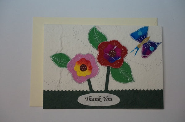 Thank You Flowers With Butterfly Envelope