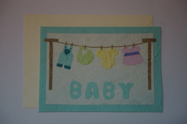Baby Clothesline Envelope