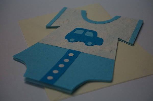 Clothe Shape Card For Boys Close Up