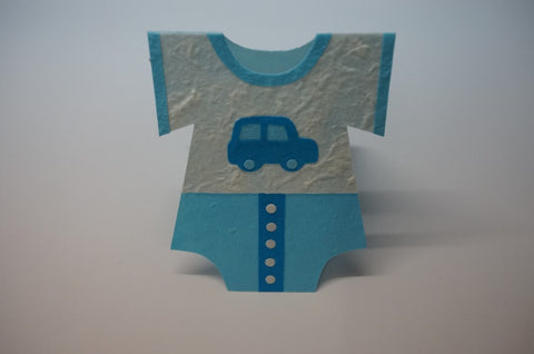 Clothe Shape Card For Boys Standing
