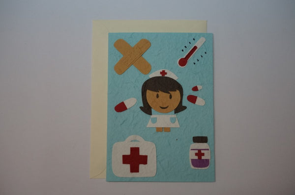 Get Well Nurse Envelope