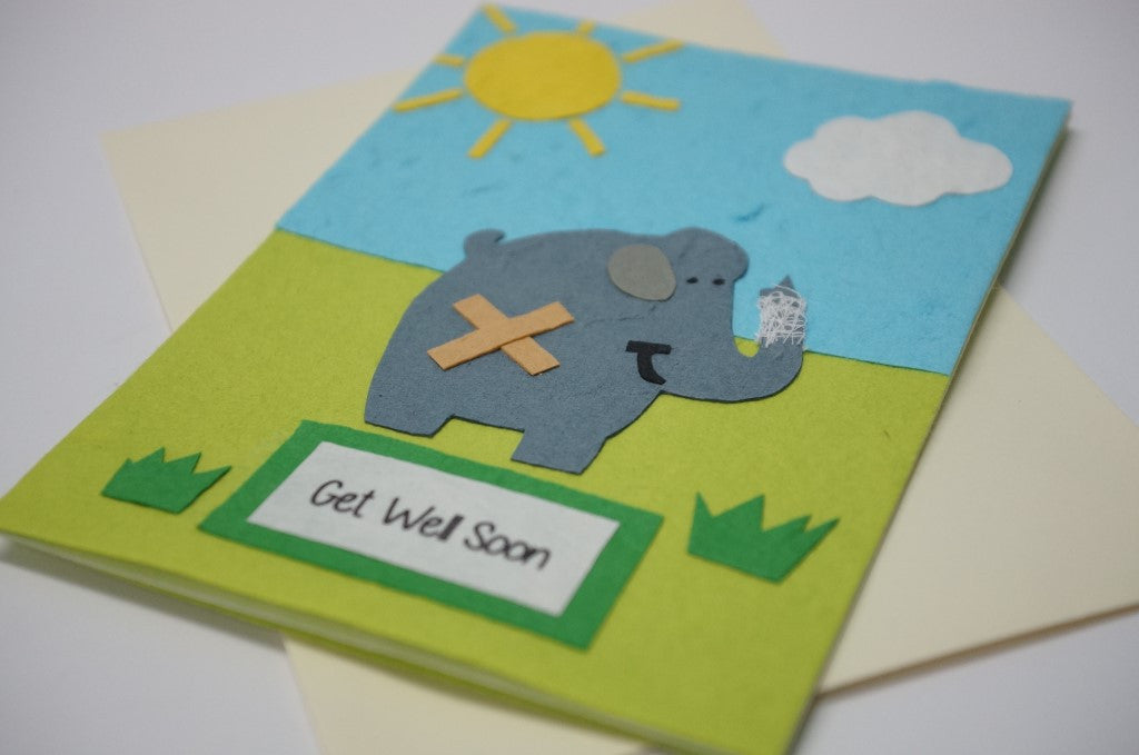 Get Well Elephant Close Up