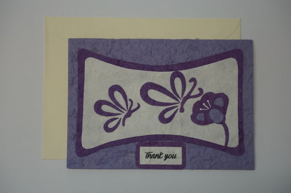 Thank You Purle & White Flower Envelope