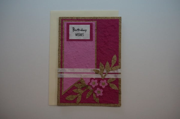 Birthday Flowers Pink Envelope