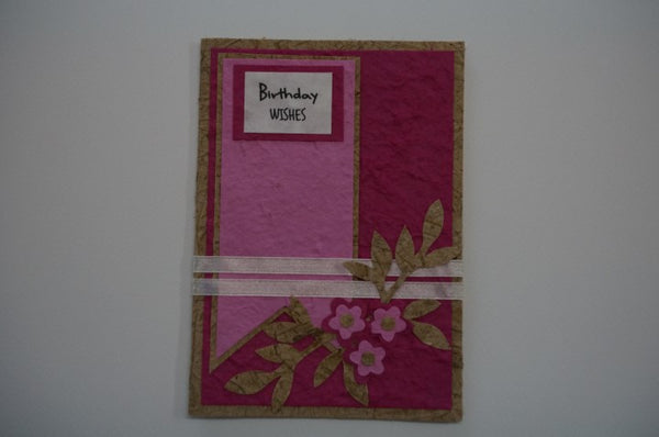 Birthday Flowers Pink Standard