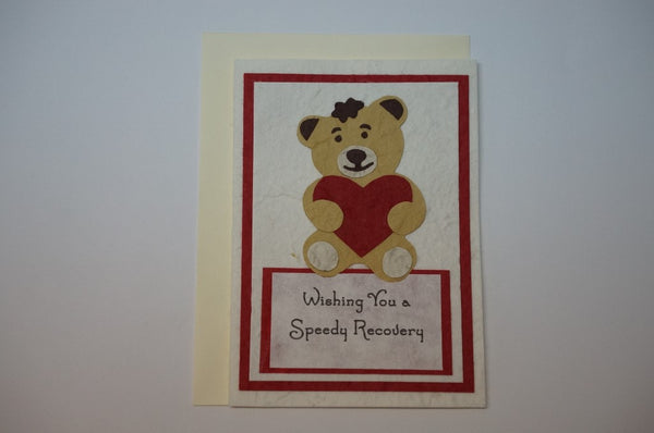 Speedy Recovery Teddy Bear Envelope