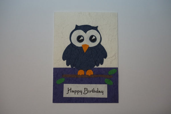 Blue Birthday Owl Standard