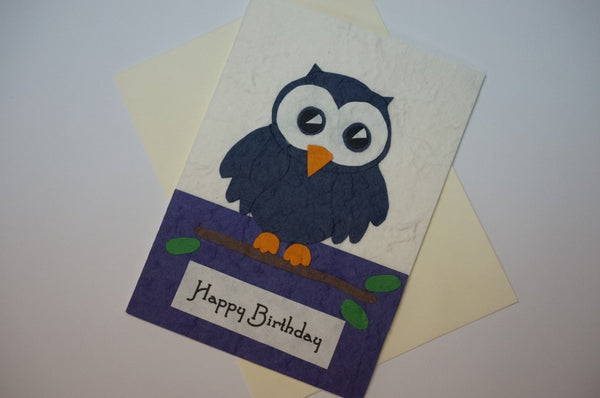 Blue Birthday Owl Fancy