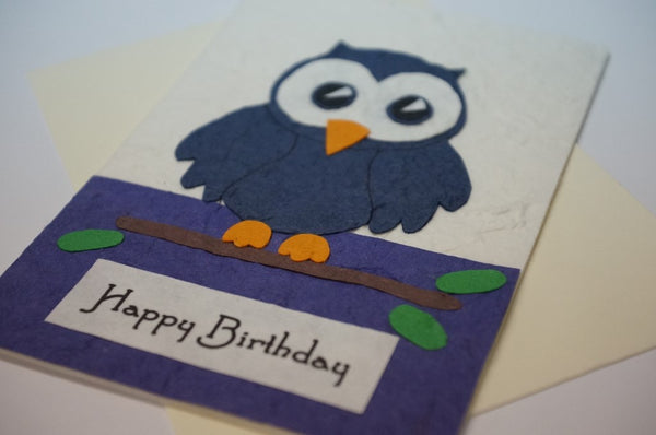 Blue Birthday Owl Close Up