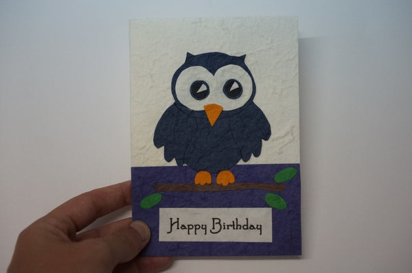 Blue Birthday Owl Hands On