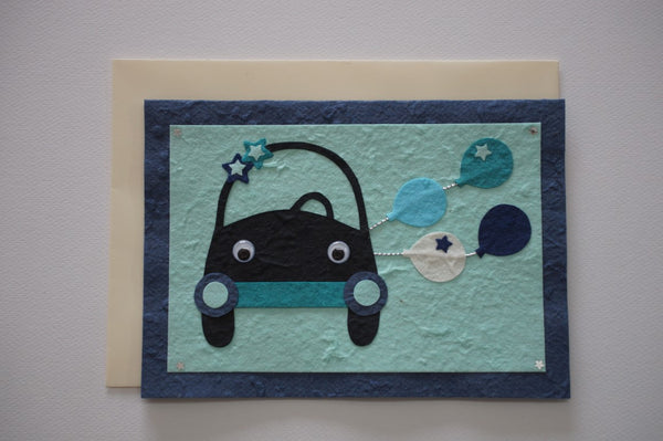 Car Blue Envelope