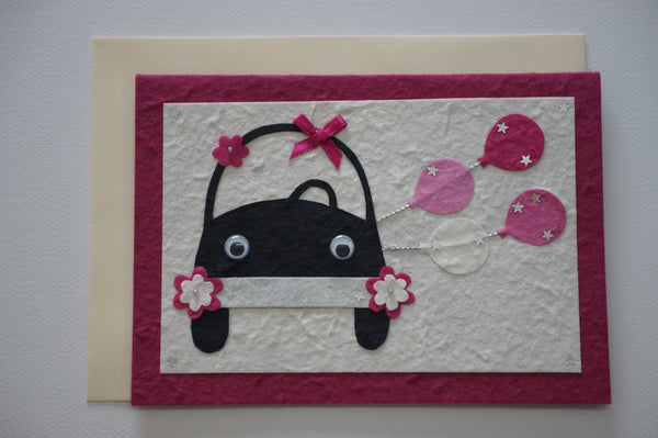 Car Pink Envelope
