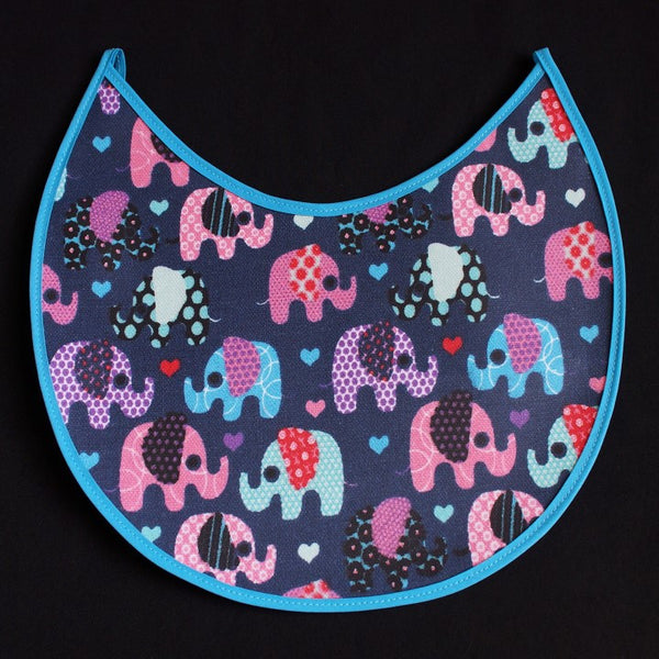 Cute Elephant Design on Dark Blue Background and Light Blue Border