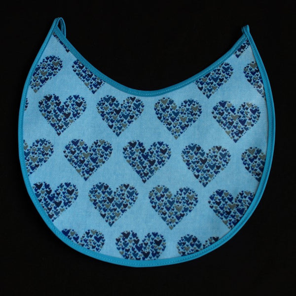 Heart Design with Hearts in Different Blue Tones