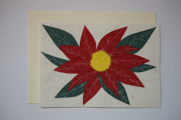 Red and Green Flower Envelope