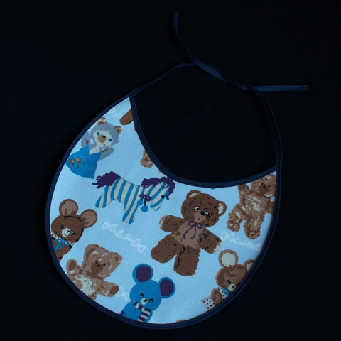 Fancy Teddy Design with Teddys and a Cute Horse Dark Blue Border