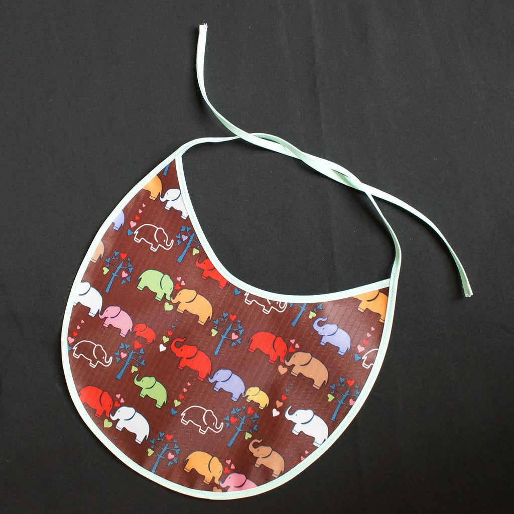 """Baby Bib"" Elephants in Love (7041)"