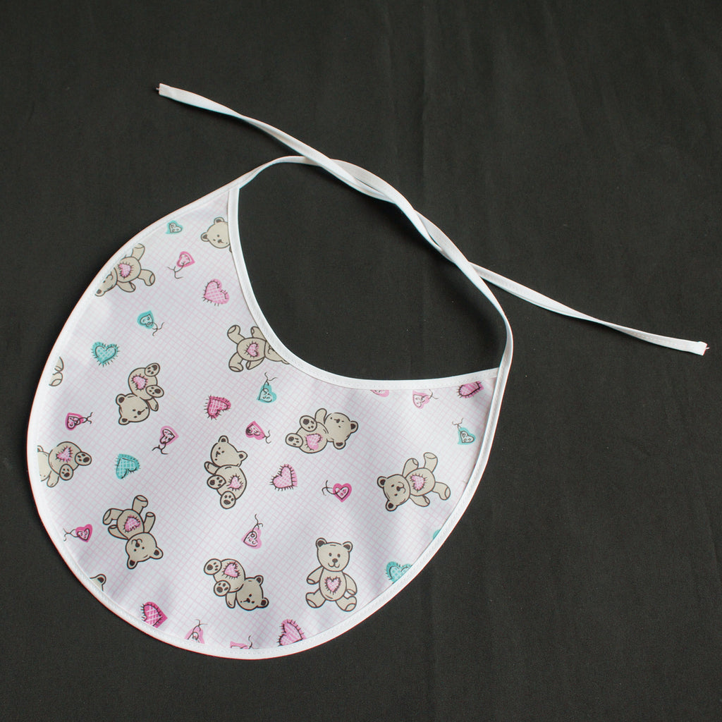"""Baby Bib"" Baby Teddy light pink (7042)"