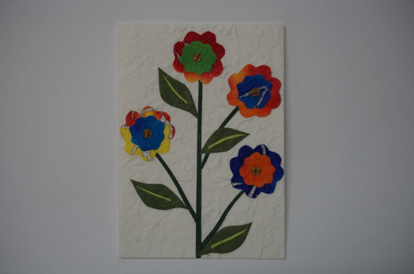 Four Multi Color Flowers Standard