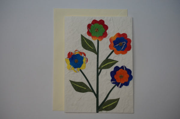 Four Multi Color Flowers Envelope