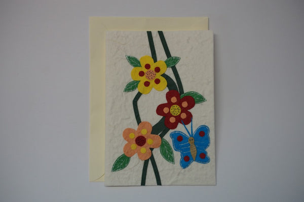 Butterfly and Three Flowers Envelope